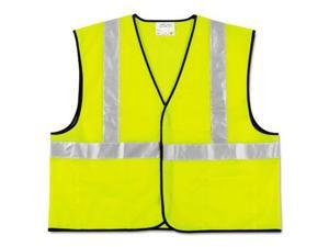 Crews VCL2SLXL2 Class 2 Safety Vest, Fluorescent Lime w/Silver Stripe, Polyester, 2X