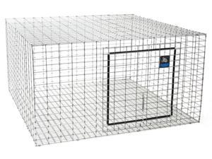 Rabbit Hutch 24 X 24In MILLER MFG CO Cages & Hutches AH2424 Silver  084369010184