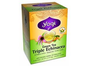 Yogi 27058 Organic Green Triple Echinacea Tea