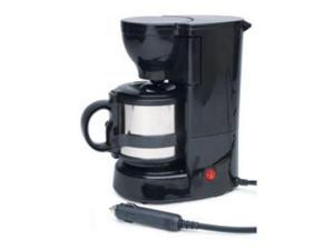 RoadPro RPSC784 12-Volt Quick Cup Coffee Maker with Metal Carafe