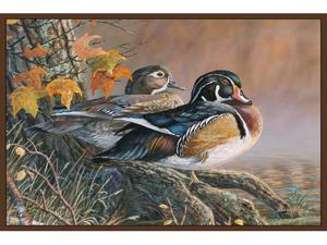 Custom Printed Rugs WOOD DUCKS Wood Ducks Wildlife Rug