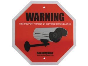 Securityman Sign2Pk-En Surveillance Warning Sign, Pack