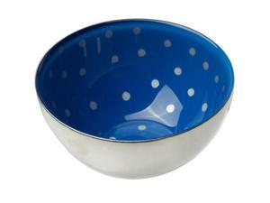 MoMo Panache 807241 Condi Bowls Silver with Sapphire Blue and small silver dots, pair