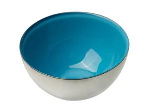 MoMo Panache 807245 Condi Bowls Silver with Blue Dawn inner, pair
