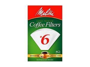 Melitta 626402 No. 6 Cone White Paper Filter -40 Count