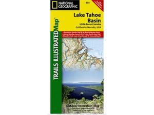 National Geographic TI00000803 Map Of Lake Tahoe Basin - California