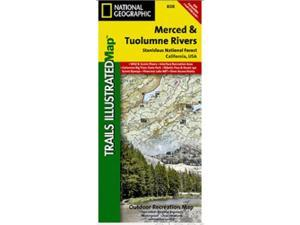 National Geographic TI00000808 Map Of Merced And Tuolumne Rivers-Stanislaus National Forest - California