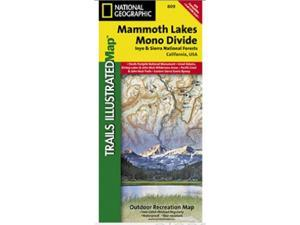 National Geographic TI00000809 Map Of Mammoth Lakes-Mono Divide - California