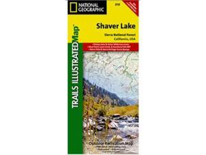National Geographic TI00000810 Map Of Shaver Lake-Sierra National Forest - California