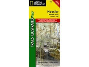 National Geographic TI00000770 Map Of Hoosier National Forest - Indiana