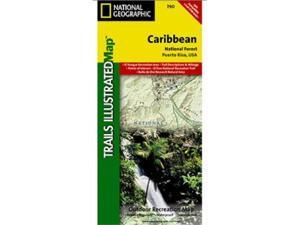 National Geographic TI00000790 Map Of Caribbean - Puerto Rico