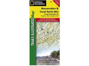 National Geographic TI00000792 Map Of Massanutten-Great Northern Mountains - Virginia