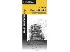 National Geographic TI00000793 Map Of Clinch Ranger District - Virginia