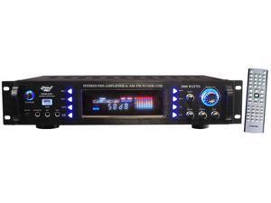 PylePro P3201ATU 3000 Watts Hybrid Pre Amplifier with AM-FM Tuner- USB