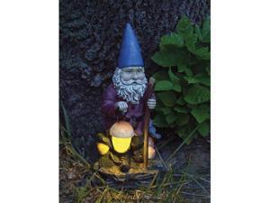 "Echo Valley EV4182 10.5""D x 6.5""W x 5""L Hiking Solar Gnome The LED"
