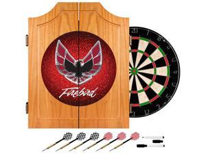Trademark Poker Pontiac Firebird Red Wood Dart Cabinet Set