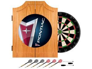 Trademark Poker Pontiac Wood Dart Cabinet Set