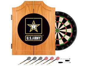 Trademark Poker U.S. Army Wood Dart Cabinet Set