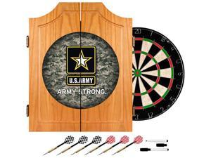 Trademark Poker U.S. Army Digital Camo Wood Dart Cabinet Set