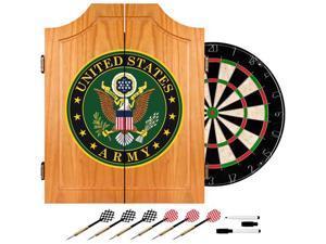 Trademark Poker U.S. Army Symbol Wood Dart Cabinet Set