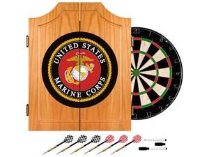 Trademark Poker United States Marine Corps Wood Dart Cabinet Set