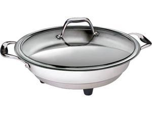 Cucina Pro 1454 Classic Electric Skillet - 16  - Polished Interior