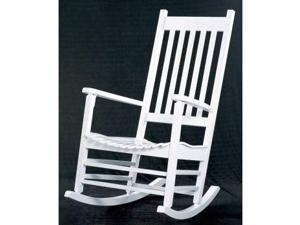 International Concepts R-51864 Solid Wood Porch Rocker - White