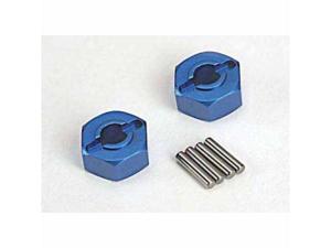 Traxxas TRA1654X Traxxas Wheel Hubs Aluminum with Pins - Blue