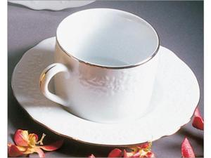Ten Strawberry Street Vine Silver Line - 7 Oz Cup And Saucer - Set Of 6