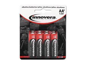 Innovera 11008 Alkaline Batteries  AA  8 Pack