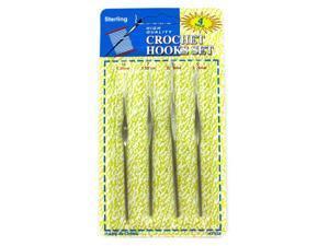 Bulk Buys HT458-72 8L x 8H Crochet Hook Set - Pack of 72