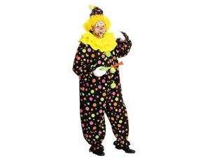 Costumes For All Occasions AA123 Neon Dotted Clown Full Size