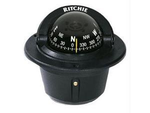 Ritchie Compass F-50 Flush Mount Explorer  - Black