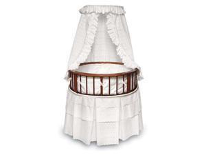 Badger Basket Elegance Round Baby Bassinet