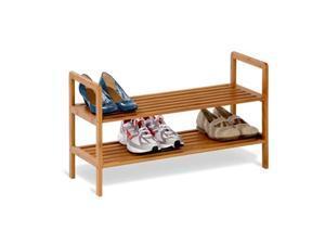 Honey Can Do 2-Tier Bamboo Shoe Shelf - SHO-01600