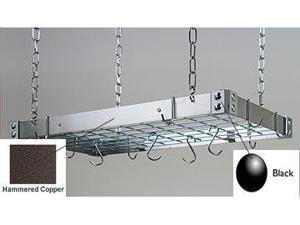 Rogar 4743 KD Rectangle/All Metal - Hammered Copper/Black