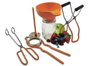Weston 83-2017-W 5 Piece Home Canning Kit - Red