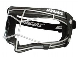 Bangerz HS-6500BS Softball-Baseball-Womens Youth Lacrosse Wire Fielders Mask - Black Foam-Silver Wire