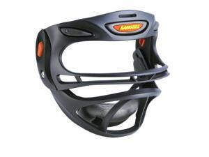 Bangerz HS-1800BB Fully Adjustable Sports Safety Mask - Black Mask-Black Padding-Black Hinge-Orange Vent