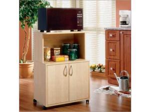 MFI Nexera  599 Natural Maple Delissio Microwave Kitchen Cart