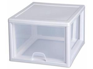 Sterilite 27 Quart Clear Stacking Drawer  23108004 - Pack of 4