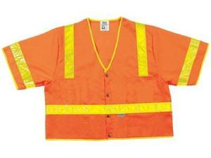 River City 611-CL3SOVXL Lum. Class Iii Poly Fluorescent Safety Vest Orng