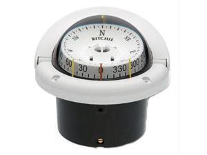"Ritchie Compass HF-743W 3-3/4"" Combidamp Dial Helmsman Compasses - White"