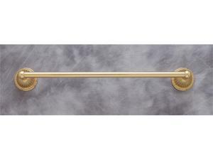 JVJHardware 28830 Renaissance 30 in. Fluted Towel Bar Set Concealed Screw - Polished Brass