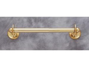 JVJHardware 21209 Kitchen Accessories 17 in. Plain Paper Towel Holder - Solid Brass
