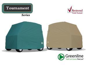 Greenline GLCG02 GreenLine Universal Slip-On 2 Passenger Golf Car Cover- Green