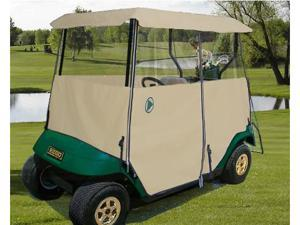 Greenline GLET02 Greenline Drivable Universal 2 Passenger Golf Car Enclosure- Tan