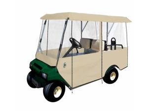Greenline GLET04 Greenline Drivable Universal 4 Passenger Golf Car Enclosure- Tan