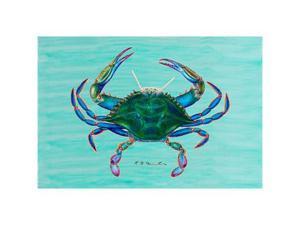 "Betsy Drake DM004 Female Blue Crab Door Mat 18""x26"""