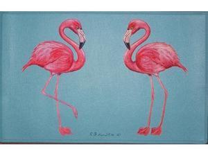 "Betsy Drake DM084 Flamingo Door Mat 18""x26"""